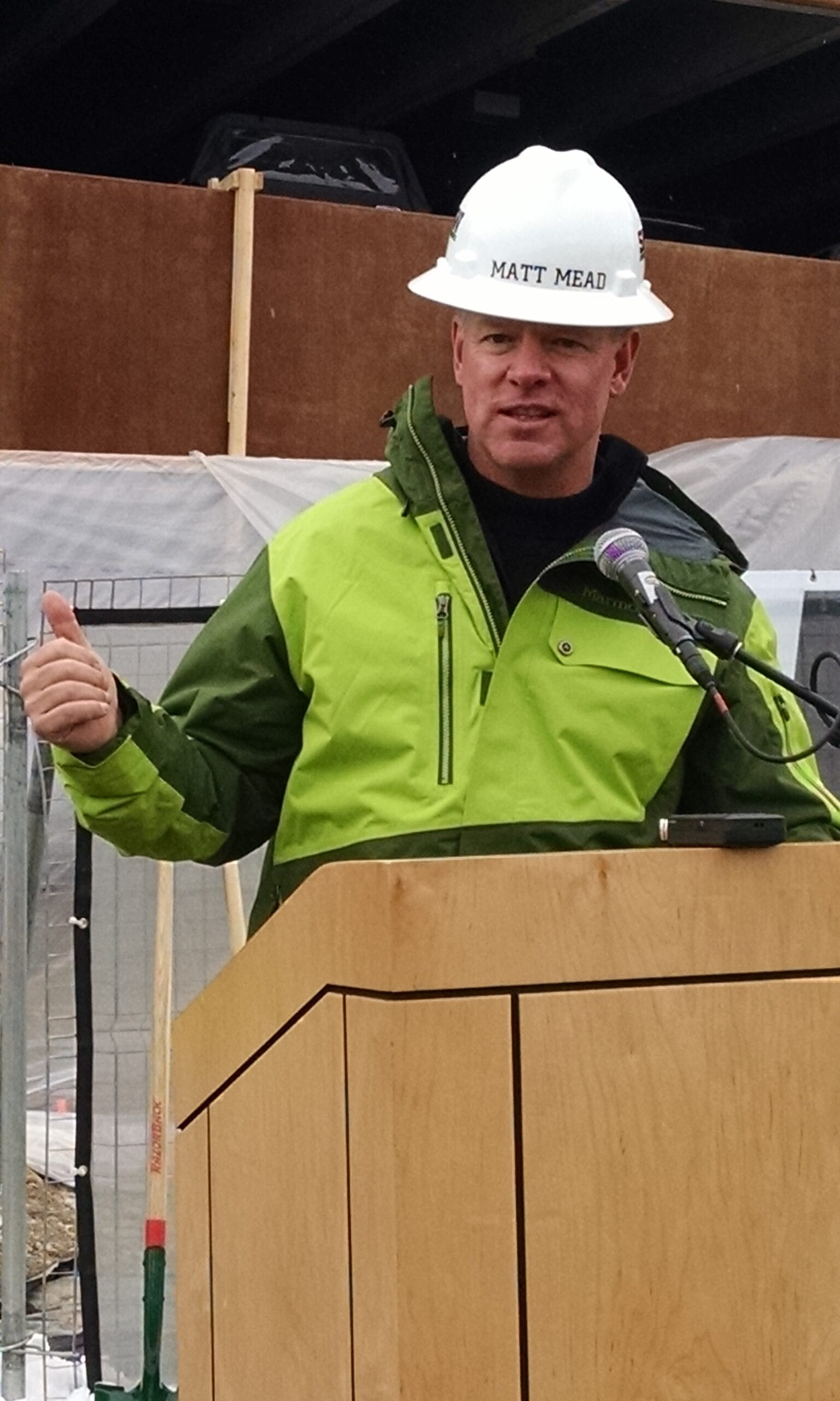 Gov. Mead at Vertical Harvest Groundbreaking